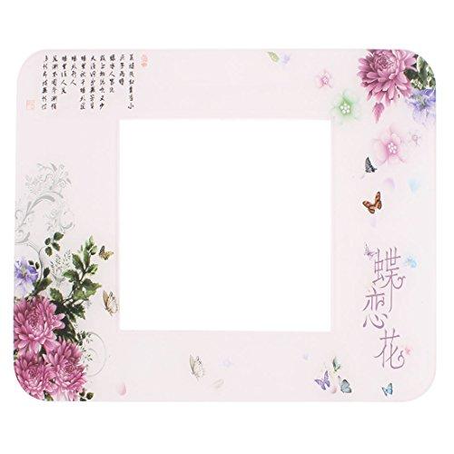 Sourcingmap® Floral Schmetterling Gedruckt Lichtschalter-Sticker, Sockel Displayschutzfolie