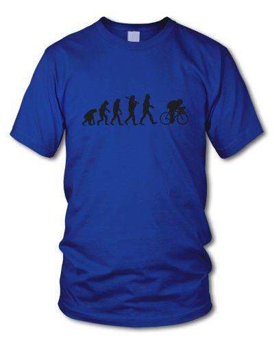 shirtloge - EVOLUTION RADFAHRER - KULT - Fun T-Shirt - in verschiedenen Farben - Größe S - XXL Royal (Schwarz)