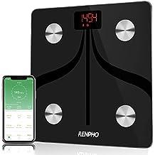RENPHO Báscula de Grasa Corporal Inteligente Bluetooth Recargable por USB Báscula para Baño Digital con aplicación