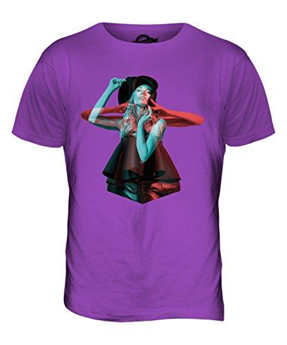 CandyMix Modell Stereoskopisch Herren T Shirt Violett