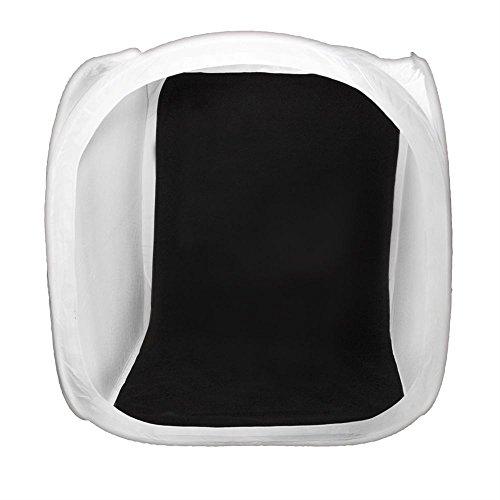 DÖRR Lichtzelt/Aufnahmebox weiß 120x120 cm inkl. 4 Hintergründe in weiß, schwarz, rot und blau, Klettabdeckung mit Objektivöffnung und Transportbeutel