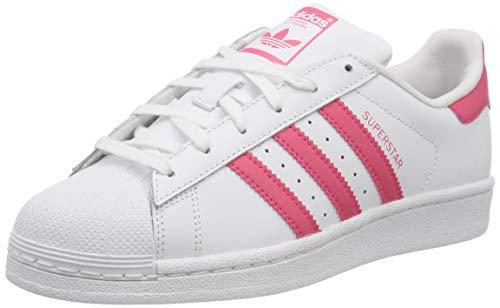 Adidas Superstar J, Zapatillas de Gimnasia Unisex Niños, Blanco (FTWR White/Clear Pink/Clear...