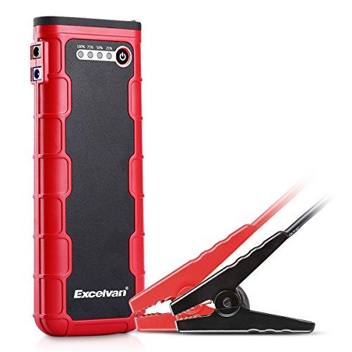 Excelvan - 800A Spitzenstrom 18000mAh Auto Starthilfe ( Tragbare Jump Starter, Dual USB, 5 LED Taschenlampe, für 6.5L Gas, 3.0L Diesel Auto, 12V Motorrad, ATV Yachtboot, Laptop Smartphone Tablet - Motorrad Starter Jump Für