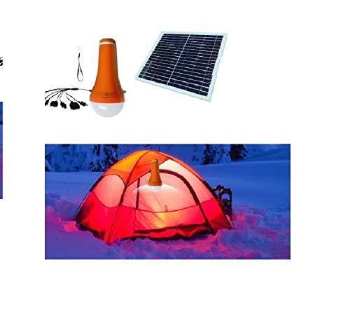 Solarleuchte Laterne LED Akkuleuchte Powerbank 4400 mAh mit Solarpanel Taschenlampe Iphone Ladegerät für Camping und Outdoor I-Lumen®