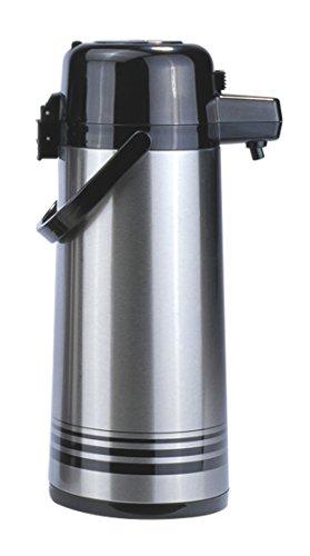 Brushed Stainless Steel - Update Internationale pSVL-25-BK-SF 2,5 Liter Airpot Edelstahl mit Knopf Top Gef-ttert Update Airpot