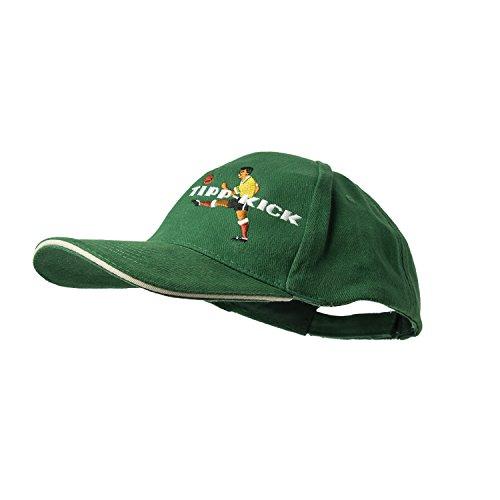 Preisvergleich Produktbild Original Tipp-Kick König Flex Cap mit Stick,  Fan-Artikel Kappe in grün,  Schirmmütze mit Klettverschluss verstellbar,  One Size,  100 % Baumwolle