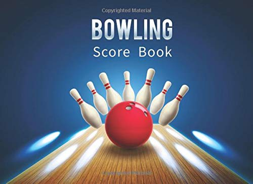 Bowling Score Book: Keep Score Game While You Bowl with Your Friends - Shuffleboard-pins