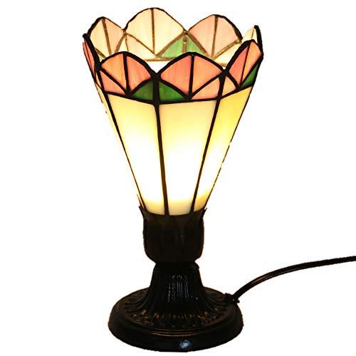AUNLPB Rosenblütengestelle Tiffany Table Lampe, kleine kreative Tiffany-Lampe, der ganze Lampenkörper aus umweltfreundlichen Materialien und ist am besten für Wohnzimmer und Bedroom(10 * 20cm)