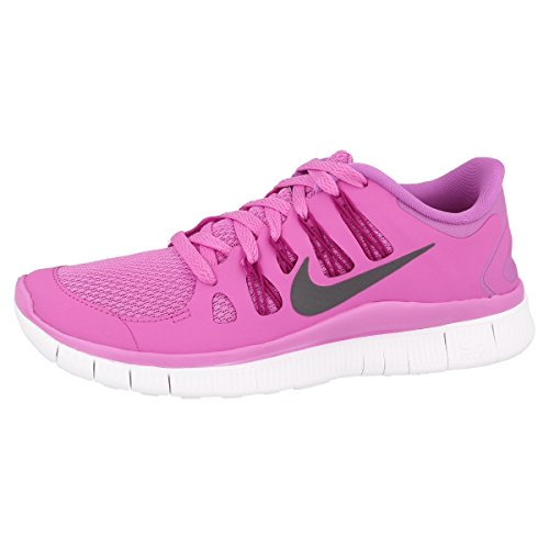 Nike Laufschuhe Free 5.0+ Damen red violet-iron ore-bright magenta-summit (580591-500), 38,5, pink