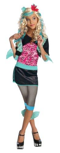 Rubie's Lagoona Blue Kinderkostüm Monster High Lizenzkostüm schwarz-pink-türkis 98/104 (3-4 Jahre)