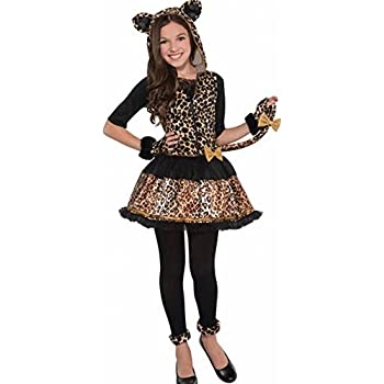 amscan girls sasssy spots leopard costume age 810 years