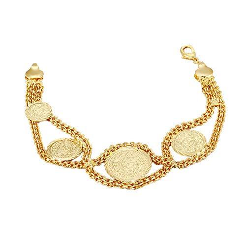 HUSHOUZHUO Armbänder Für Frauen Runde Metallmünze Nahen Osten Islam Charme Armreifen Weibliche Traditionellen Schmuck Zubehör Geschenk