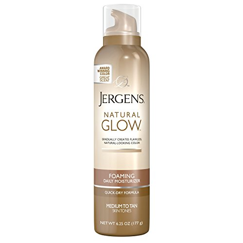 Jergens Natural Glow Foaming Daily Moisturizer Med -Tan 6.25 Ounce by KAO Brands (English Manual)