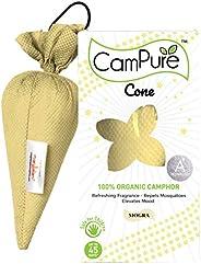 Mangalam CamPure Camphor Cone (Mogra) - Room, Car and Air Freshener & Mosquito Repellent (Pack O