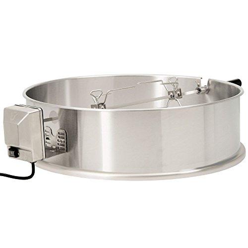 BBQ-Toro Edelstahl Grillspieß Set für 57 cm Kugelgrill, Rotisserie, Drehspieß für Holzkohle Grill -