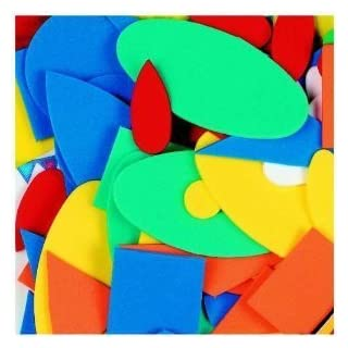 Creation Station 100 g Craft Foam Assorted Shapes, Pack of 750