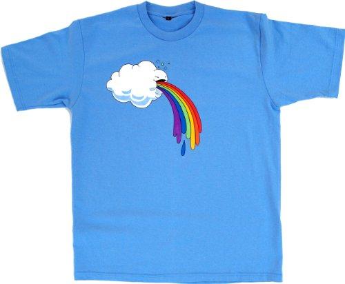 Guru-Shop Fun T Shirt `Wolke`, Herren, Baumwolle, Rundhals Kurzarm Shirt Alternative Bekleidung Blau