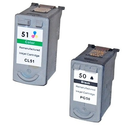 Preisvergleich Produktbild Prestige Cartridge PG-50/CL-51 2-er Pack Druckerpatronen für Canon Pixma iP1200, iP1300, iP1600, iP1700, iP1800, iP1900, iP2200, iP2400, iP2500, iP2600, MP140, MP150, MP160, MP170, MP180, MP190, MP210, MP220, MP450, MP460, MP470, MX300, MX310 & MultiPass 450, MP150, MP160, MP170, schwarz / dreifarbig