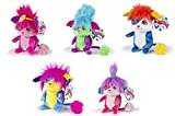 SET COMPLET 5 Peluche POPPLES 20cm BUBBLES LULU IZZY SUNNY YIKES Original Spin Master