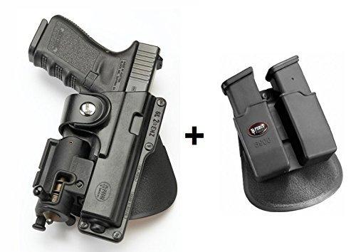 deckte Trage Pistolenhalfter Mit Haltegurt Halfter 6900 Doppel magazintasche für Glock 19, 23, 32 / Ruger SR9, SR40 / Walther P99 ()