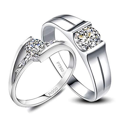 rter Sterlingsilber-runder Moissanite-Ring mit simuliertem Diamant (0,5 Karat),Women'sring,N ()