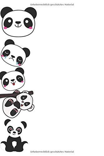 Notizbuch: Pandabär Notizbuch 150 Leere Seiten Für Kinder zum Malen und Schreiben