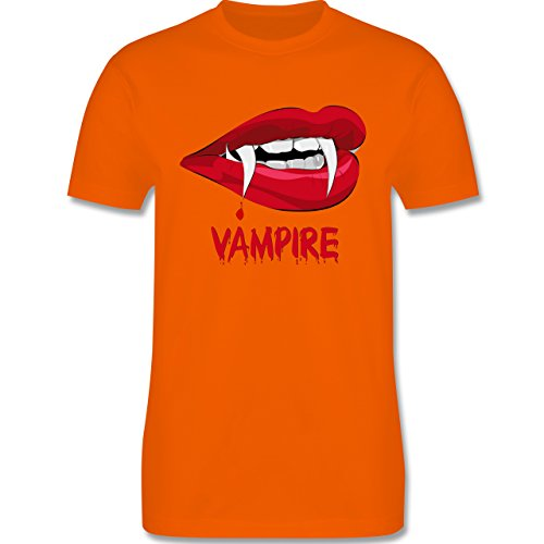 Halloween - Vampire Blut - Herren Premium T-Shirt Orange