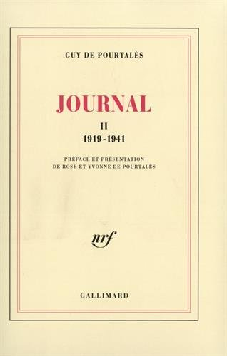 Journal, II: (1919-1941) par Guy de Pourtalès