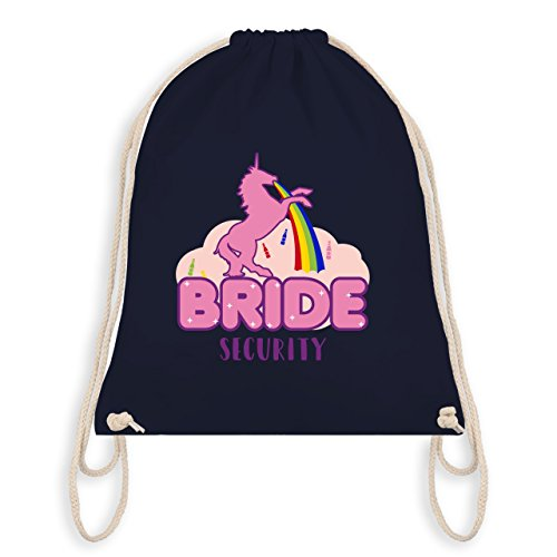 Jga Bachelorette Party - Jga Bride Security Unicorn - Borsa Da Ginnastica I Gym Bag Blu Navy
