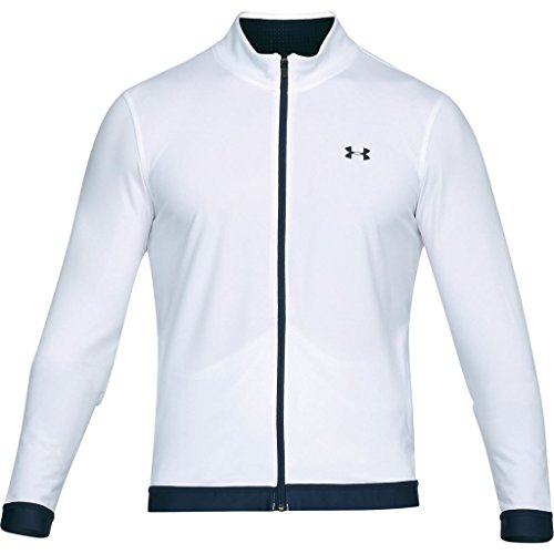 Under Armour 2018 UA HeatGear Playoff Full Zip Mens Stretch Golf Jacket White 3XL (Zip Golf Jacke)