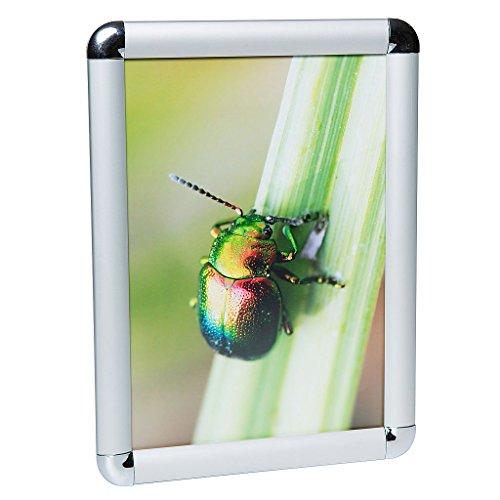 Plakat-schutzfolie (Klapprahmen Plakatrahmen Posterrahmen DIN A1 Rondo 25 mm Profil Silber eloxiert aus Alu)