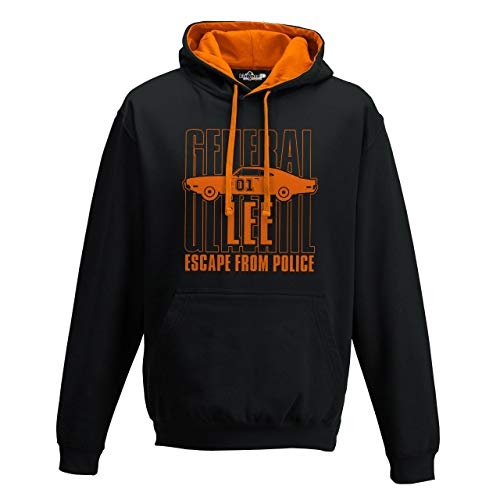 KiarenzaFD Kapuzenpullover Bico The Dukes General Lee Hazzard, Herren, schwarz, Large