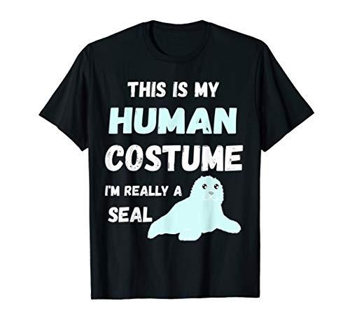 Robbe Kostüm - Seelöwen Robben Menschliches Kostüm Seehund Seerobbe T-Shirt