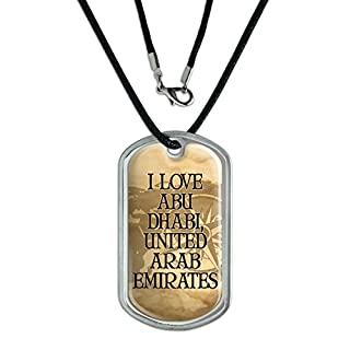 Dog Tag Pendant Necklace Cord City Country Ab-Av - Abu Dhabi United Arab Emirates