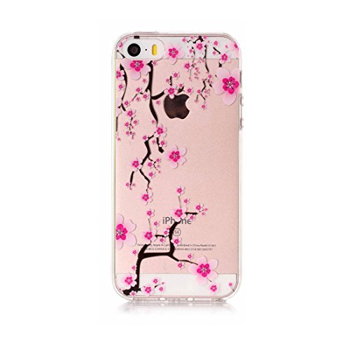 iPhone 5 Custodia, Cartoon Margherite - TPU Silicone Trasparente Nuovo Gel Soft Case iPhone 5 SE 5S 5G Custodia durevole Cartoon Cover, Prova di scossa anti-graffio # # 7