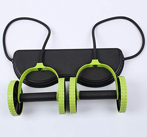 YFASD Pull Seil Taille Trimmer Core Double Ab Roller Ab Rad Fitness Bauch Übungen Ausrüstung Bauchtrainer Mit Widerstand Band