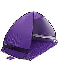 Al aire libre portátil abierto Camping viaje familia tienda de campaña para la playa, purplesalt®–instantánea Pop Up plegable automático Cabana construir una sombra refugio anti UV Protección solar impermeable con bolsa de transporte para 2–3personas