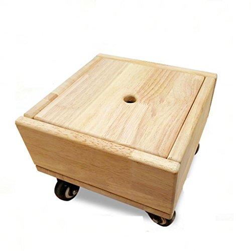 MNII Kreativ Holz Aufbewahrungskiste Schuhe wechseln Flaschenzug HOCKER Lazy Hocker Rollhocker MOP Hocker Haushalt Transportstuhl 26 * 26 * 19,2 cm , b- Schöne Möbel (Reinigen Hanf Schuhe)