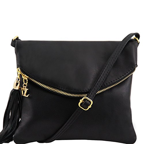 Tuscany Leather - TL Young Bag - Borsa a tracolla con nappa - TL141153 (Marrone) Nero
