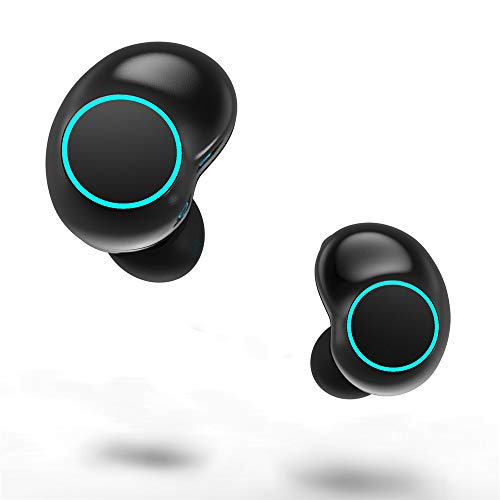 Earbud Kopfhörer drahtlose Bluetooth-Kopfhörer HD-Geräuschkellung mit Mikrofon-LED-Licht für PS4 Xbox Nintendo Switch Laptop-Tablet Mobile Phones iPad