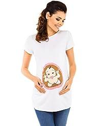 Zeta Ville - Camiseta Premamá estampado embrión travieso T-shirt - mujer - 503c