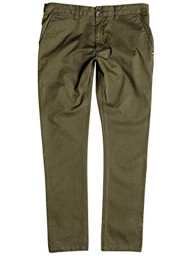 "Dc Shoes Skinny Slim Fit 32"" Pantalones, Color: Fatigue Green, Size: 30"