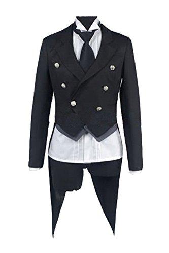 Amazon Kostüm Butler (Black Butler Kuroshitsuji Sebastian Cosplay Kostüm Herren)