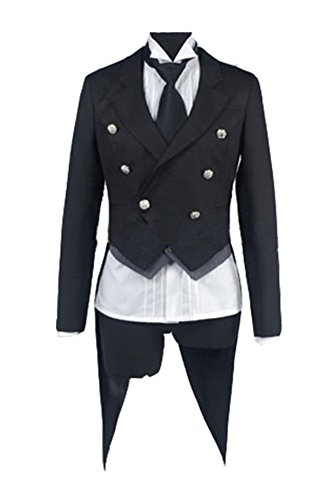 Kostüm Cosplay Link Amazon (Black Butler Kuroshitsuji Sebastian Cosplay Kostüm Herren)