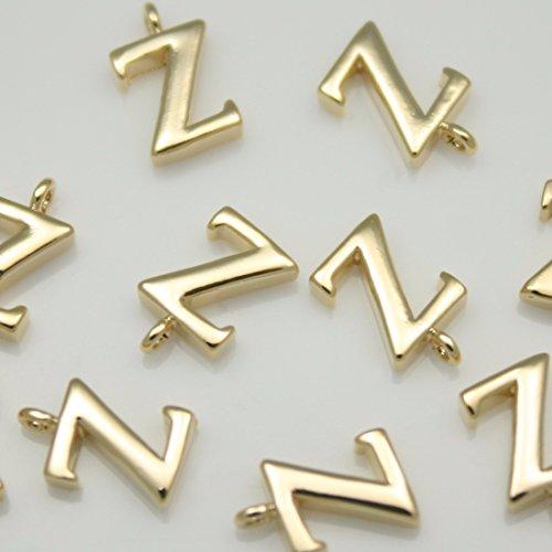 2pezzi di lucido oro lucido iniziale alfabeto