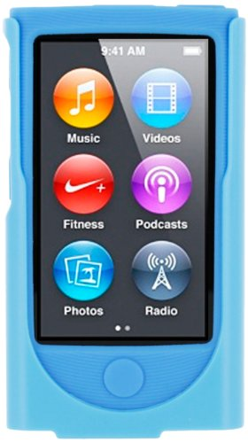 roocase-apple-ipod-nano-7-7th-generation-hybrid-silicone-case-with-detachable-holster-clip-blue