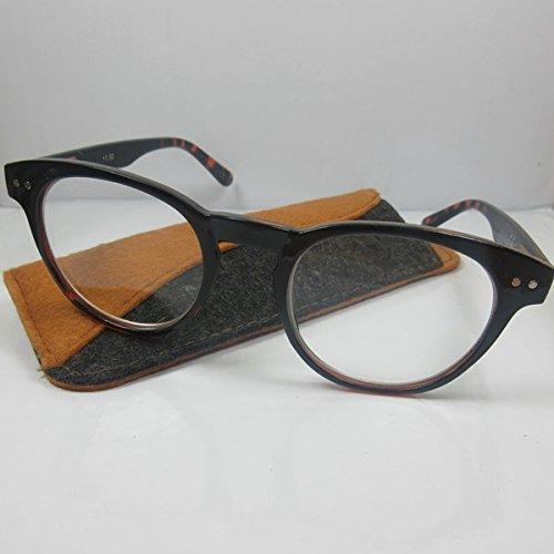 Große Lesebrille schw/havanna Retro-Design SIE & IHN Lesehilfe Fertigbrille Etui Sehhilfe +3,0