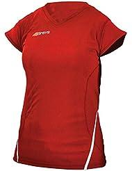 Grises para mujer cuello en V G650 Camisa del hock - Red - UK 14 / US 10 / EU 42