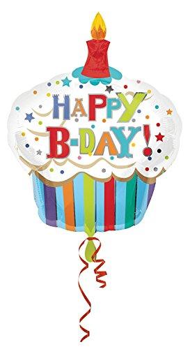 Amscan Anagram 2447701 - Party und Dekoration - Folienballon SuperShape - Cupcake - Happy Birthday, circa 74 x 91 cm