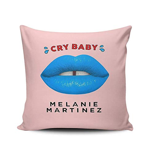 zed Melanie Martinez Square Pillowcases Designer Pink Decorative Throw Pillow Covers Cases 18x18 Inches One Sided ()